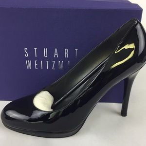 Stuart Weitzman size 10 platswoon black heels new